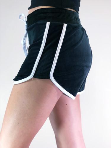 Velour Shorts- Black