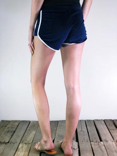 Velour Shorts- Navy