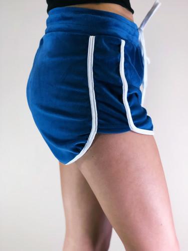 Velour Shorts- Teal