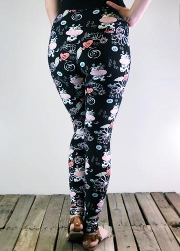 """Yoga 5"""" Waistband- (Plus Size): Udderly Adorable"""