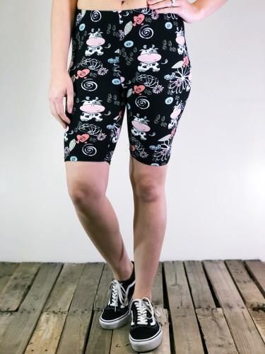 Bike Shorts- Udderly Adorable
