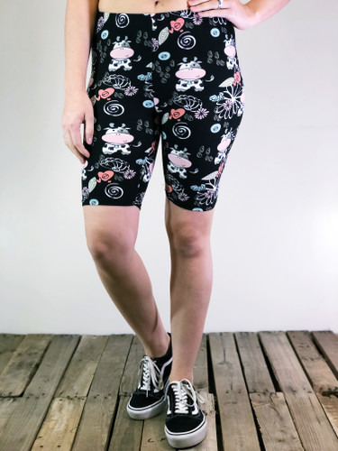 Bike Shorts- Udderly Adorable