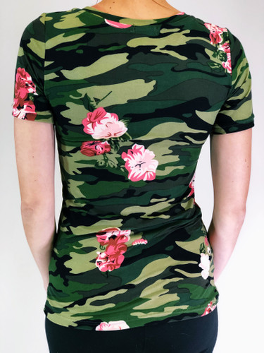 Camo Short Sleeve- Army Of Roses