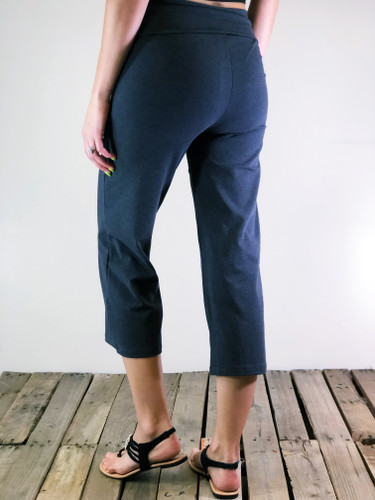 Yoga Capri Pants- Charcoal