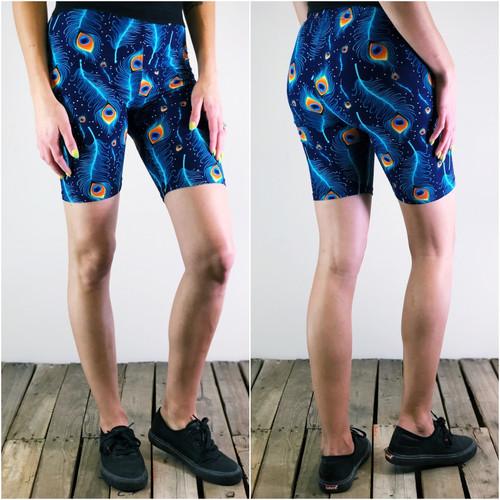 Bike Shorts- Peacock Blues