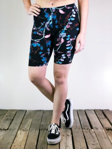 Bike Shorts- Colorful Eucalyptus