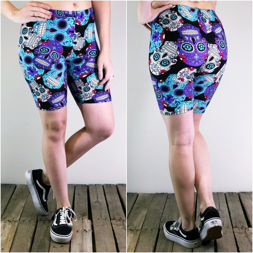 Bike Shorts- Day Of The Dead