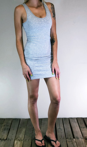 Body-Con Dress- Heather Grey