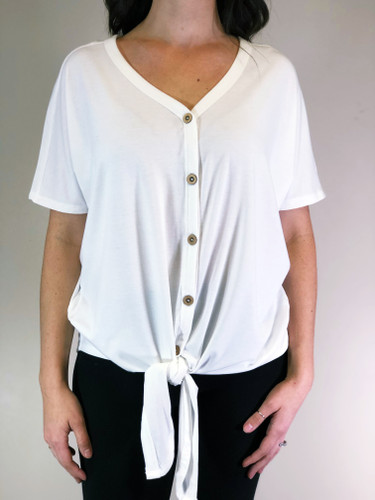 Button Down Top- Ivory