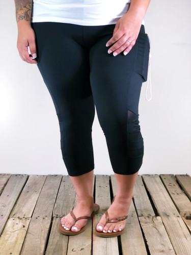 Plus Size Capri Activewear- Black