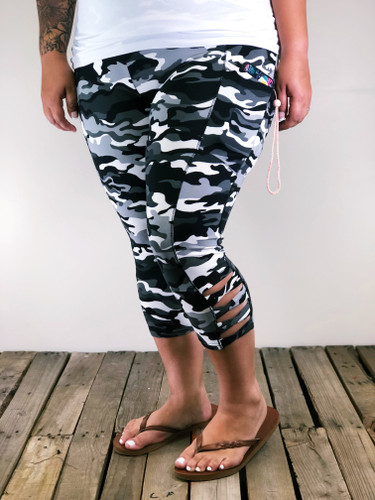 Plus Size Capri Activewear- Camo