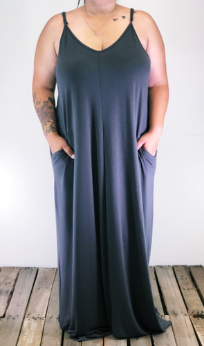 Plus Size Dress- Ash Grey