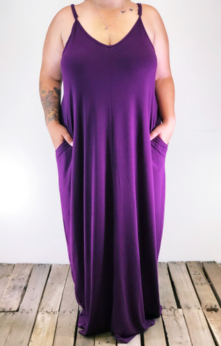 Plus Size Dress- Plum