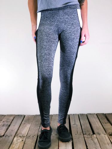 Activewear With Pocket- Heather Grey