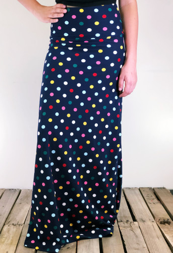 One Size Maxi- Polka Delight