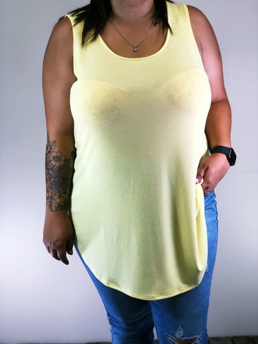 Plus Size Tank Top- Sunshine