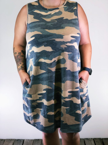 Plus Size Dress- Camouflage