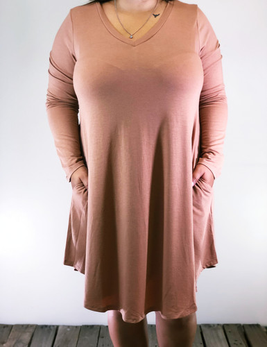 Plus Size Long Sleeve Dress: Egg Shell