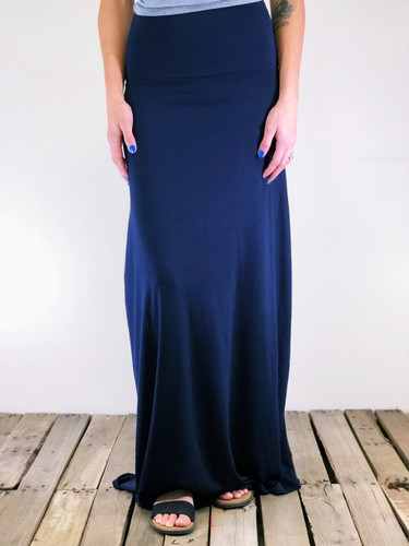 Plus Size Maxi- Navy