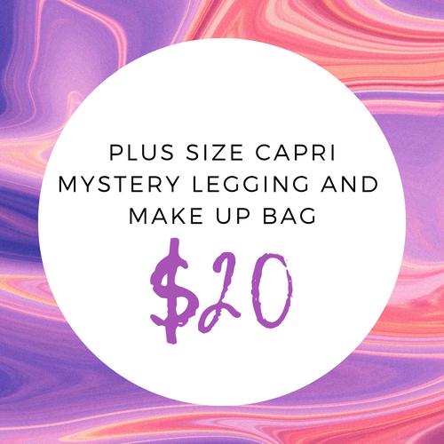 Plus Size Capri Mystery Legging And Make Up Bag