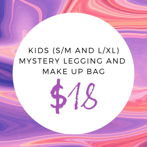 Kids (S/M and L/XL) Mystery Legging And Make Up Bag