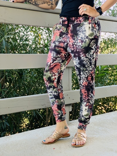 Plus Size Jogger- Autumn Tie Dye
