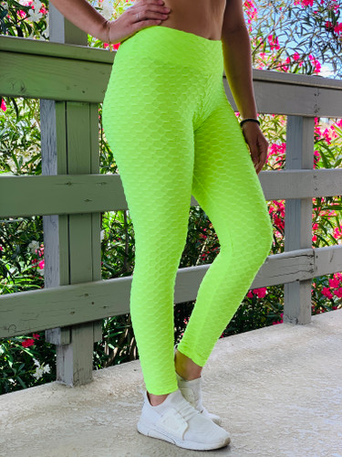 Booty Lift Leggings - Neon Green