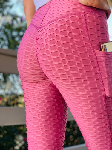 Activewear Booty Lift Compression Capri - Mauve