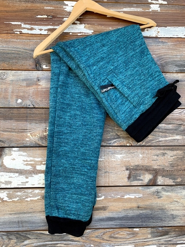 Plus Size Fur Lined Sweatpants- Turquoise