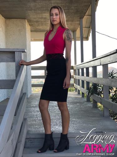 Pencil Dress- Mad for Magenta