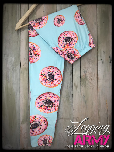 Plus Size Sublimation- Donut Pug Around