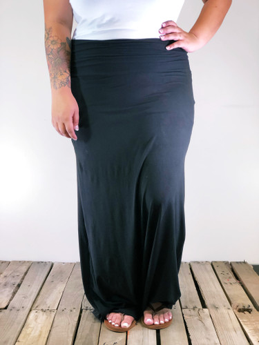 Plus Size Maxi- Solid Black