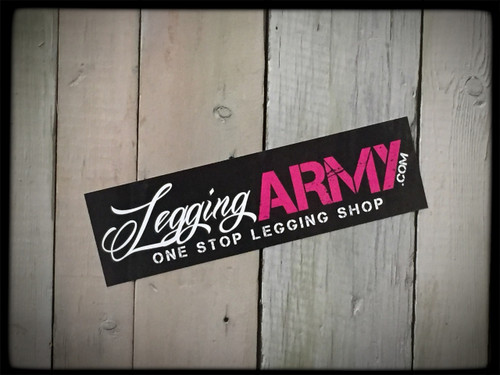 Legging Army Official Sticker Black 5-Pack