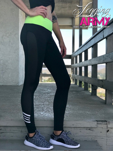 Activewear- Dashing: Black and Green