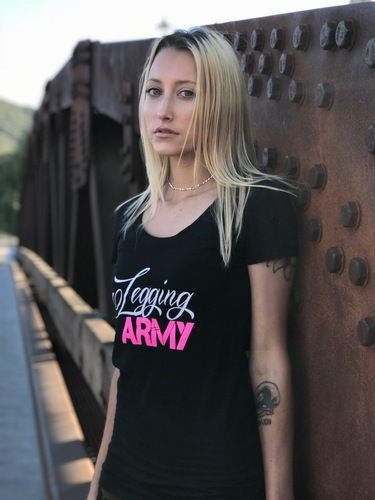 Official Legging Army T-Shirt- White Pine- Black