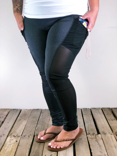 Plus Size Activewear- Powerful- Charcoal