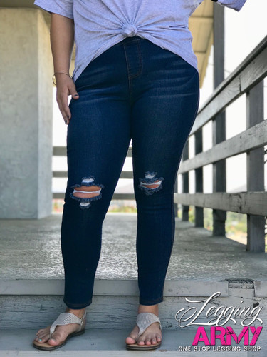 Plus Size Premium Jeggings- Luxurious
