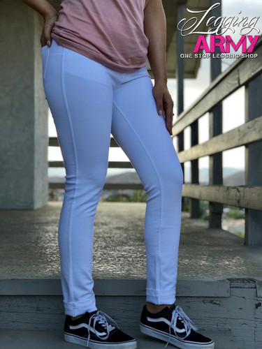 Push Up Pants- White