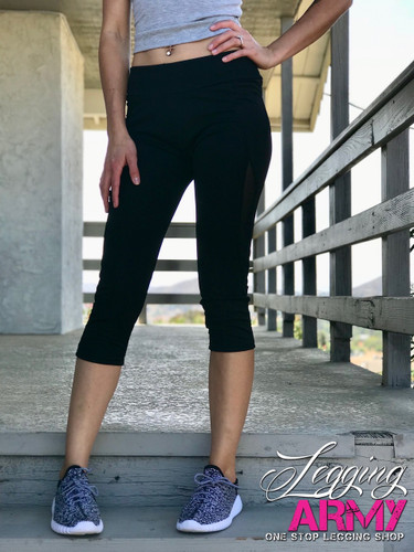Capri Activewear- Solid Black