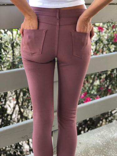 5 Pocket Pants- Pink