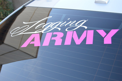 Legging Army Official Decal - 36''