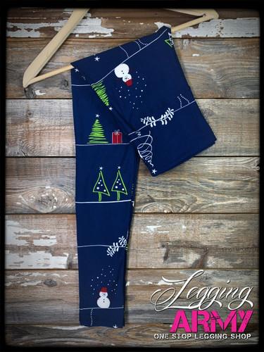 "Yoga 5"" Waistband- (Plus Size): Christmas Doodles"