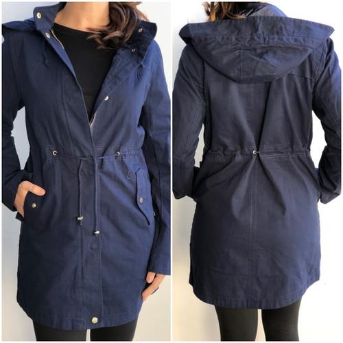 Hooded Anorak Jacket- Navy