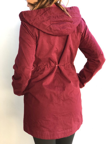 Hooded Anorak Jacket- Burgundy