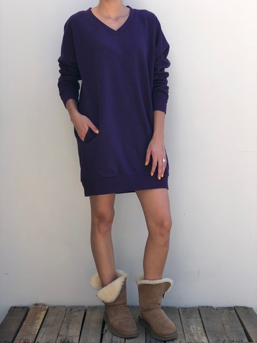 Long Sleeve Sweater- Dark Purple