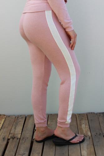 Plus Size Side Stripe Jogger- Blush