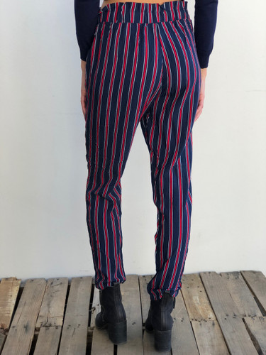 Pants- Navy With Red Stripes