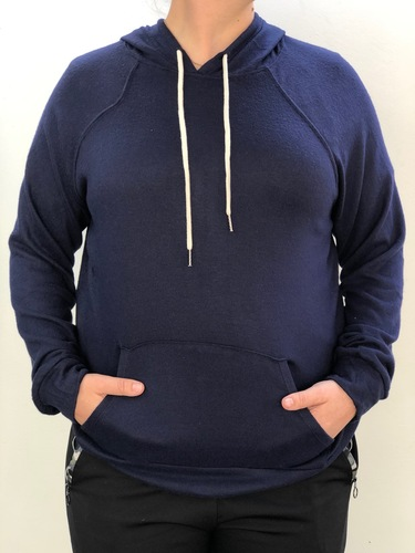 Plus Size Knit Pullover- Navy