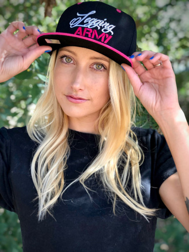 Official Legging Army Hat- Black And Pink