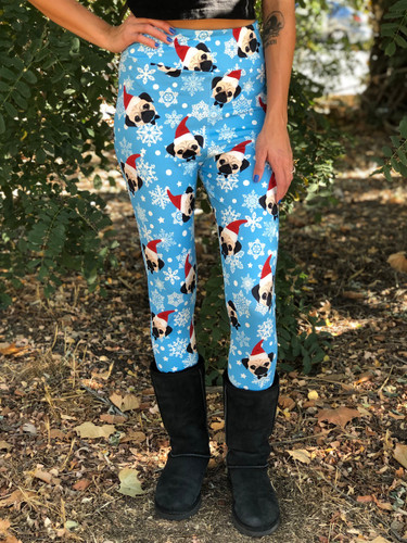 Sublimation Yoga Waistband- Santa Pug